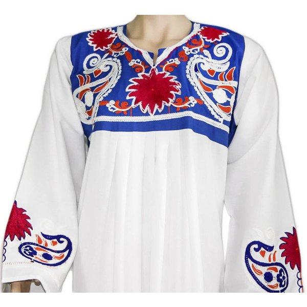 Arab Jilbab Kaftan - Two-tone with colorful embroidery