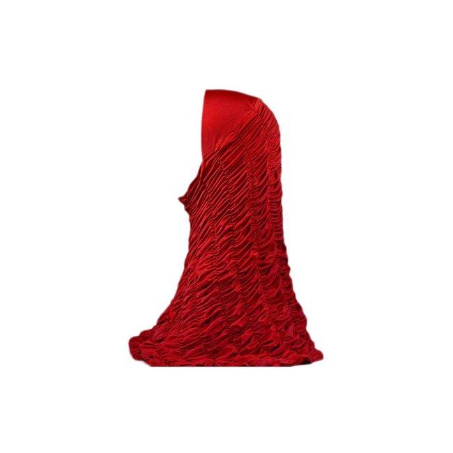 Gathered Hijab - Red