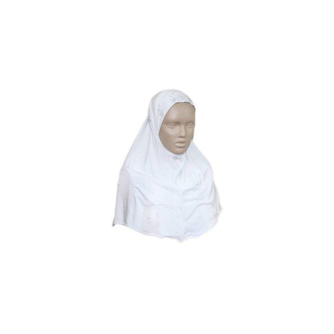 Amira Hijab with Rhinestones - White