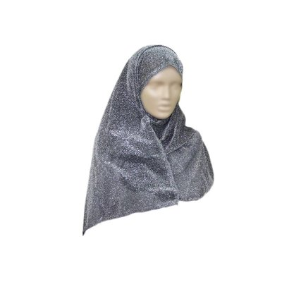 Elegant scarf for ladies with glitter effect in gray