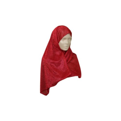 Eleganter Schal mit Glitzereffekt - Rot