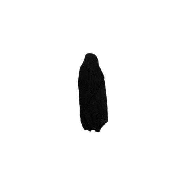 Schwarzer, großer Shayla-Schal mit Stickerei