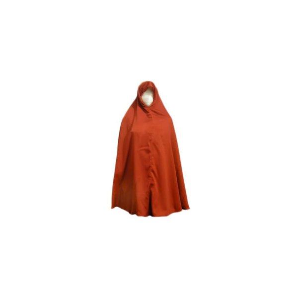 Big khimar hijab in brown
