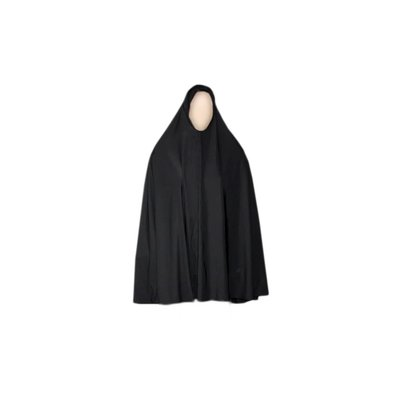 Big khimar hijab in black - Stretchy