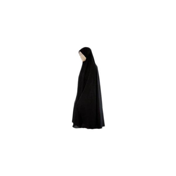 Big khimar hijab in black - Stretchy