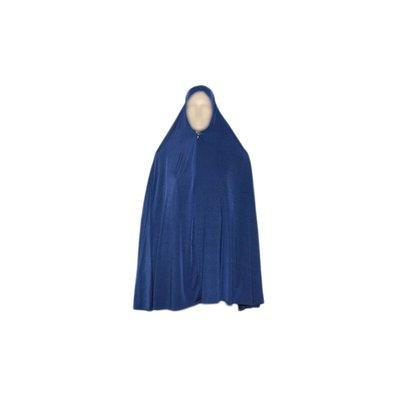 Big khimar hijab in Blue - Stretchy