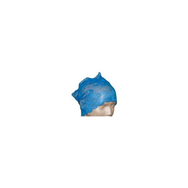 Unterkopftuch Bone aus feiner Spitze in Blau