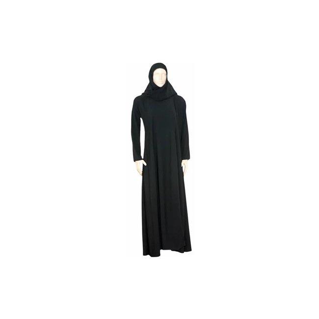 Schwarzer Abaya Mantel mit Schal