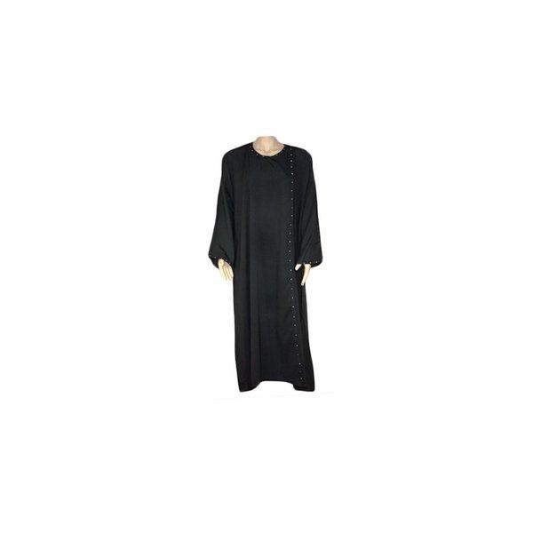 Black coat abayah in Saudi style with rhinestones