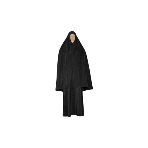 Abaya coat with khimar - Warm Set in Black