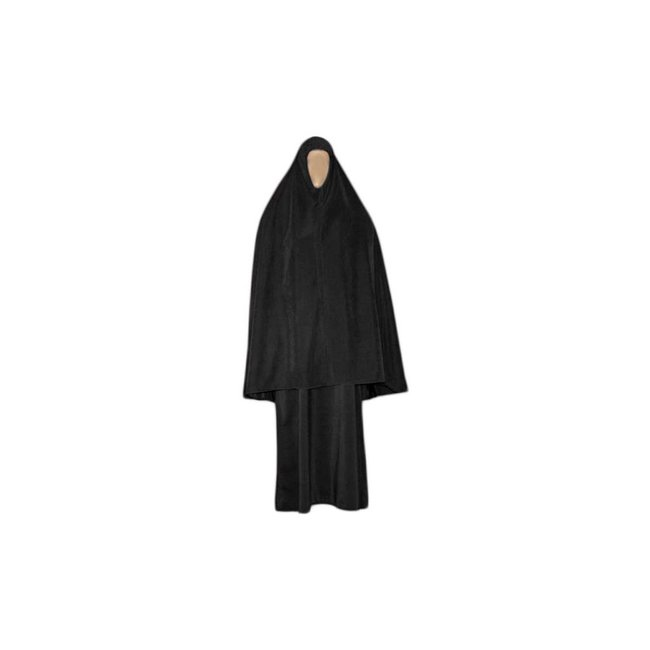 Abaya coat with khimar - Warm Set in Black