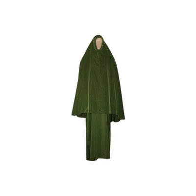 Abayah Mantel mit Khimar - Warmes Set in Grün