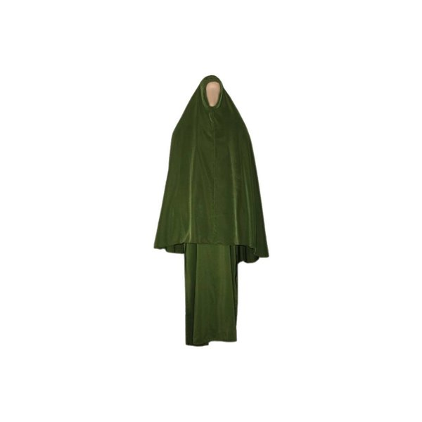 Abayah coat with khimar - Warm Set in Green