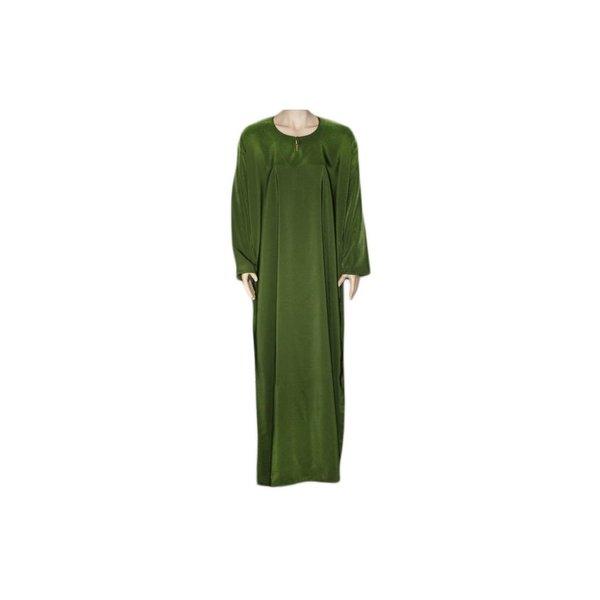 Abayah Mantel mit Khimar - Warmes Set in Grün