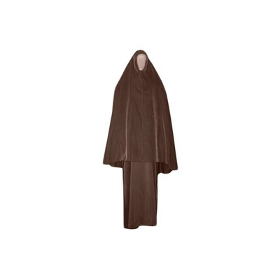 Abayah coat with khimar - Warm Set in Brown