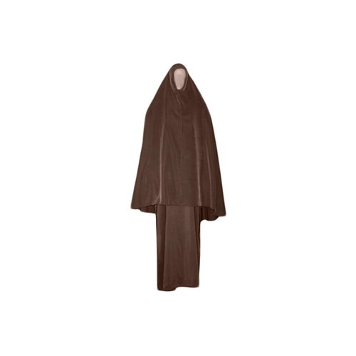 Abaya Mantel mit Khimar - Warmes Set in Braun