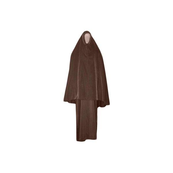 Abayah coat with khimar - Warm Set in Brown