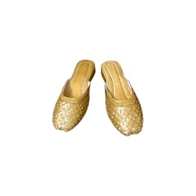 Leather Slip-On - Gold