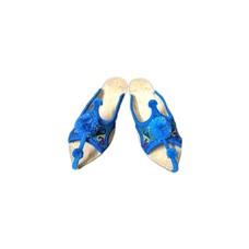 Pompon Pantolette - Blau