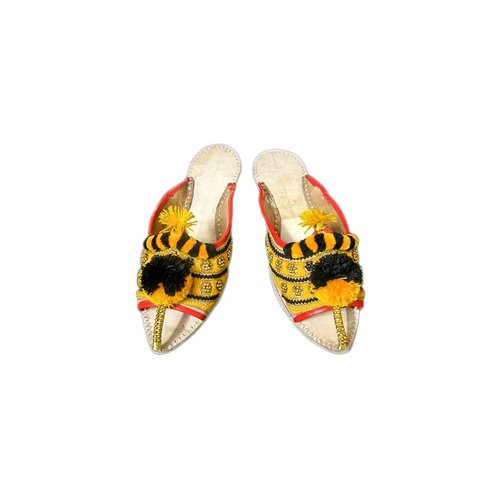 Slip-On shoes with bobbles - Black and Yellow