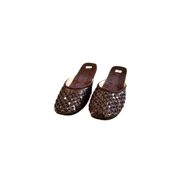 Orient Slip-On shoes with sequins in Dark Brown