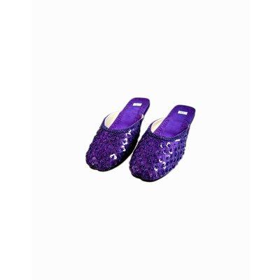 Orient-Pantolette mit Pailletten in Violett