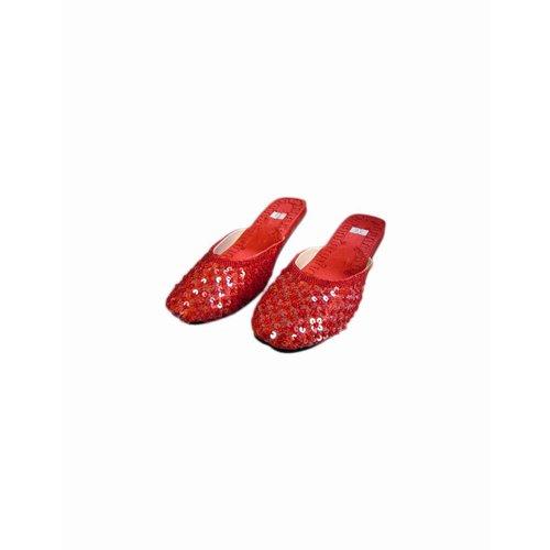 Orientalische, indische Pantoletten Schuhe - Dunkelrot