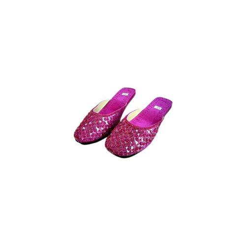 Orientalische, indische Pantoletten Schuhe - Dunkelviolett