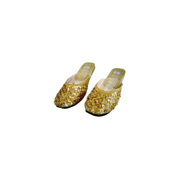 Orient Slip-On shoes with sequins in Golden Yellow
