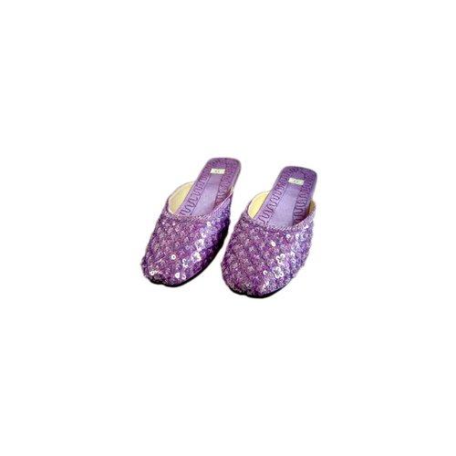 Orientalische, indische Pantoletten Schuhe - Hellviolett