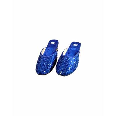 Orient-Pantolette mit Pailletten in Blau