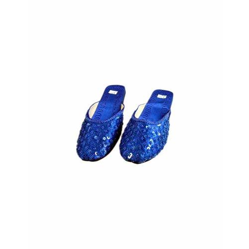 Orientalische, indische Pantolette - Blau