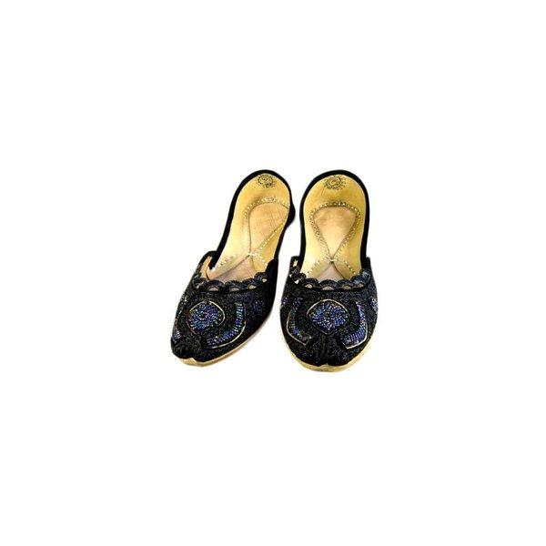 Orientalische, Indische Pailletten Ballerinas Schuhe aus Leder - Shirin