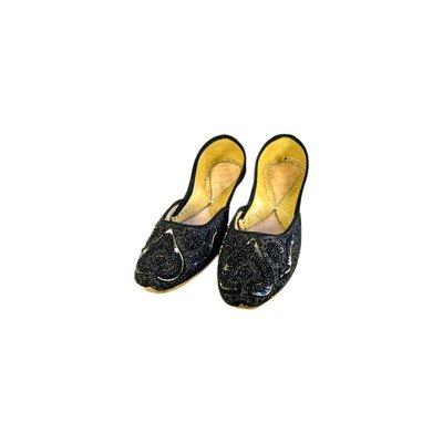Orientalische Pailletten Ballerina Schuhe aus Leder - Nousheen