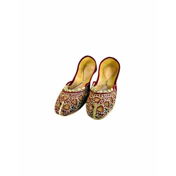 Orientalische, Inidsche Ballerinas Schuhe aus Leder - Soona