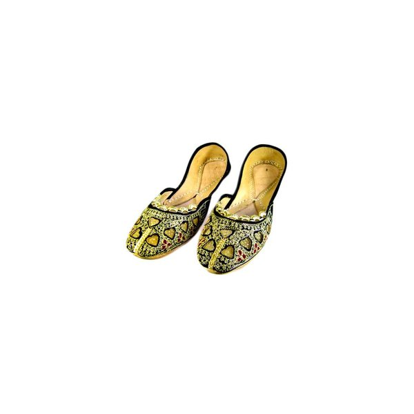 Orientalische, indische Ballerinas Schuhe aus Leder - Rani
