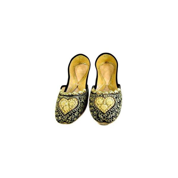 Orientalische, Indische Ballerinas Schuhe aus Leder - Malika