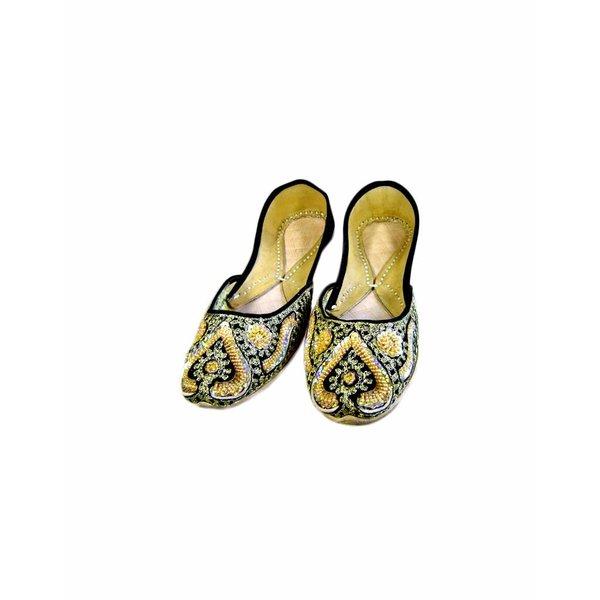 Orientalische Indische Ballerinas Schuhe aus Leder - Laila