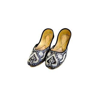 Indische Ballerinas aus Leder - Silver Queen