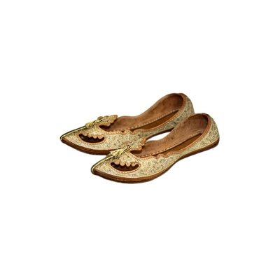Traditional Khussa for women with embroidery - gold