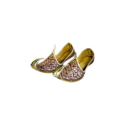 Traditional Khussa for women with embroidery - Red Gold