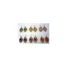 Earrings with rhinestones - Orient