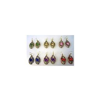 Earrings with rhinestones - Orient