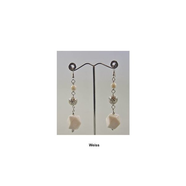 Chandelier Earrings Beads In Different Colors Oriental Style