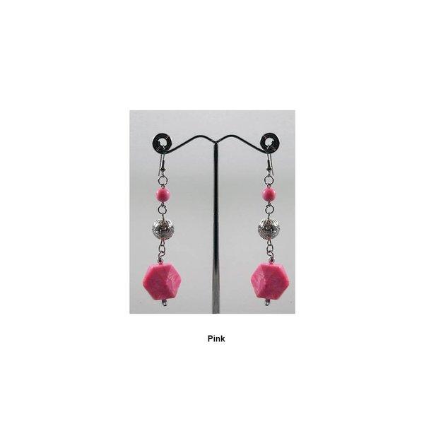 Hängeohrringe Perlen in verschiedenen Farben