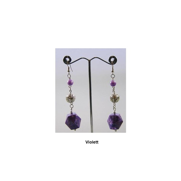 Chandelier earrings beads in different colors