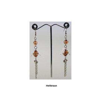 Chandelier earrings pearl flower - Various colors