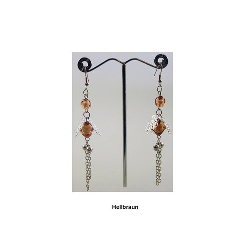 Chandelier earrings pearl flower - Various colors