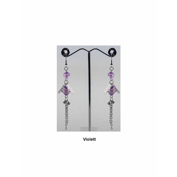 Delicate chandelier earrings pearl flower in different colors