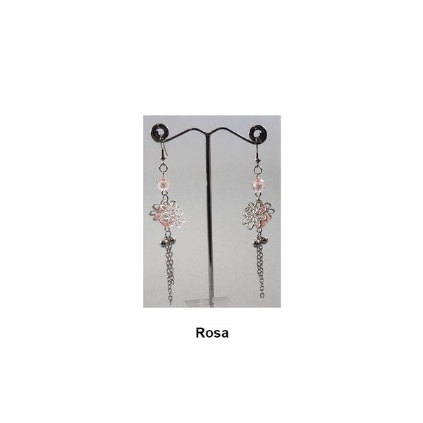 Zarte Hängeohrringe Perlenblüte in verschiedenen Farben
